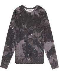 Acne Studios College Marke Print Sweater - Lyst