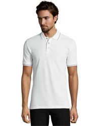 Robert Graham White Haze Piquã© Knit Cotton Polo Shirt - Lyst