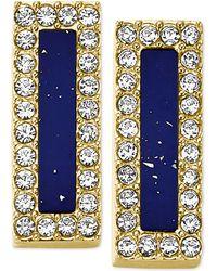 Michael Kors Gold-Tone Lapis Bar Stud Earrings blue - Lyst