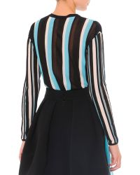 Fausto Puglisi - Vertical-stripe Cardigan Sweater - Lyst