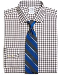 Brooks Brothers Noniron Slim Fit Gingham Dress Shirt - Lyst