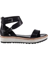 Dolce Vita Zenith Platform Sandal Black Leather - Lyst