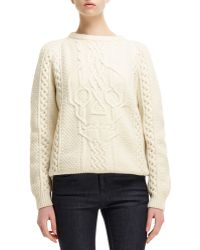 Alexander McQueen Cable-knit Skull-design Sweater - Lyst