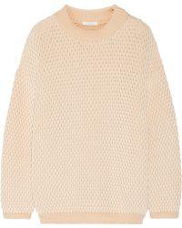 Chloé Chunky-knit Cotton-blend Sweater - Lyst