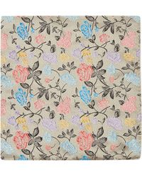 Duchamp Rose Garden Pocket Square Grey - Lyst