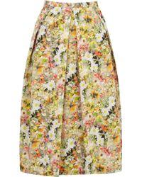 Oasis Lemon Ditsy Full Midi Skirt - Lyst