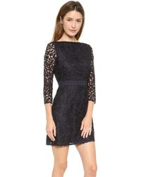 Tory Burch Renny V Back Lace Dress Medium Navy - Lyst