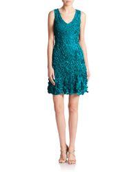 Theia Petal Cocktail Dress - Lyst
