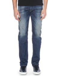 Diesel Buster Regular Slim-fit Straight Jeans 32 Denim - Lyst
