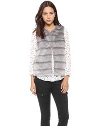 Joie Andrina Faux Fur Vest  Sterling - Lyst