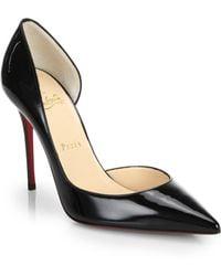 Christian Louboutin Iriza Patent Leather Half D'Orsay Pumps black - Lyst