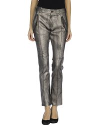 Karl Lagerfeld Leather Trousers - Lyst