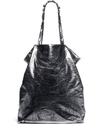 Lanvin Paper Bag Metallic Leather Tote - Lyst