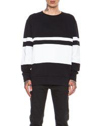 Casely-Hayford - Whitfield Panel Stripe Cottonblend Sweatshirt - Lyst