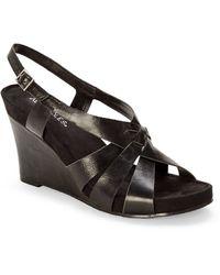 Aerosoles Black Guava Plush Wedge Sandals - Lyst
