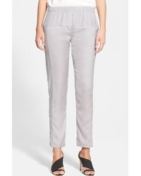 Halston Heritage Tapered Georgette Pants - Lyst