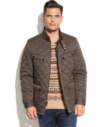Perry Ellis Quilted Field Coat - Lyst