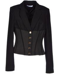 Versace Blazer black - Lyst