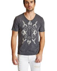 Guess Gunnarson Acid Wash Graphic T-shirt - Lyst