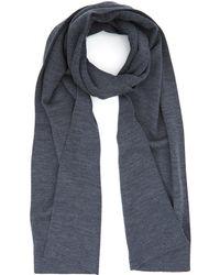 John Smedley - Charcoal Lark Fine Knit Wool Scarf - Lyst