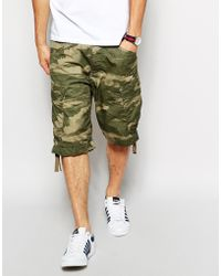 G-star Raw  Cargo Shorts Rovic Loose Wave Camo Print - Lyst