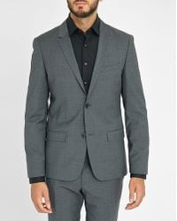 Calvin Klein | Grey Fitted Wool Suit Jacket | Lyst