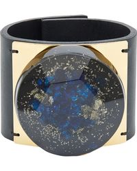 Marni Large Gold-Plate And Blue Resin Stone Cuff - Lyst