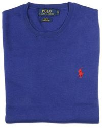 Ralph Lauren Blue Label Blue Crew Neck Sweater - Lyst