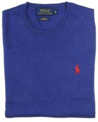 Ralph Lauren Blue Label Blue Crew Neck Sweater blue - Lyst