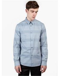 A.P.C. Men'S Blue Striped Cotton Shirt blue - Lyst