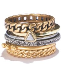 Madewell Chainlink Stacking Rings - Lyst