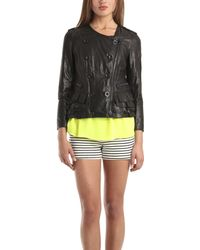 3.1 Phillip Lim Moto Leather Ruffle Jacket - Lyst