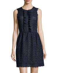 RED Valentino Floralembroidered Lace Dress - Lyst