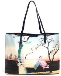 Mary Katrantzou Melina Flamingo-Print Tote - Lyst