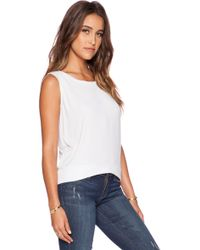 Dolan - Pleated Shoulder Tank - Lyst