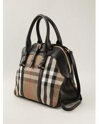 Burberry House Check Medium Bowling Bag - Lyst