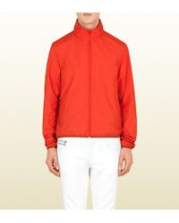 Gucci Red Techno Poly Windbreaker - Lyst