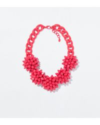 Zara Red Flower Necklace - Lyst