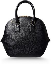 Burberry London Large Leather Bag black - Lyst