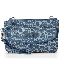 Kenneth Cole Reaction Navy Monorail Jacquard Crossbody - Lyst