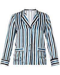 Raphaëlla Riboud - Georges Striped Silk Pyjama Top - Lyst