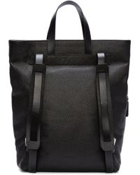 CoSTUME NATIONAL - Black Leather Tote Backpack - Lyst