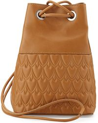 Reece Hudson Bowery Small Bucket Bag - Camel - Lyst