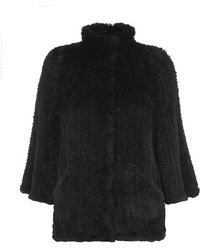 Armani Knitted Fur Jacket - Lyst