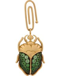 Aurelie Bidermann Tsavorite  Gold Scarab Beetle Charm - Lyst