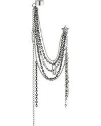 Guess Star Drape Chain Ear Cuff - Lyst