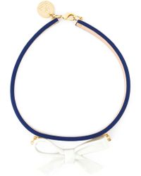 Andres Gallardo - 'True Blue - Bow White' Necklace - Lyst