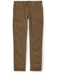 A.P.C. Petit New Standard Slim-Fit Corduroy Trousers - Lyst