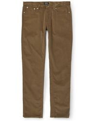 A.P.C. Petit New Standard Slim-Fit Corduroy Trousers - Lyst