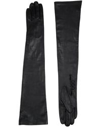 Harrods Long Leather Gloves - Lyst